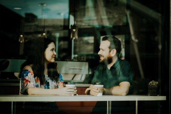 man and woman talking at cafe | 3 Expert Secrets to Relationship Building https://positiveroutines.com/relationship-building-secrets/