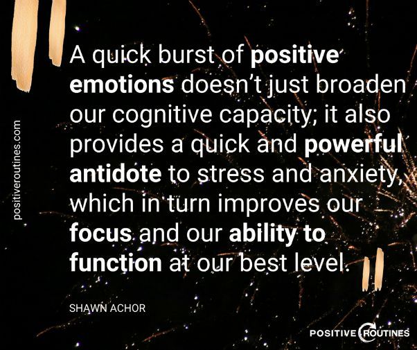 shawn achor quote positive emotions | The Best Productivity Quotes to Get You Fired Up  https://positiveroutines.com/productivity-quotes/