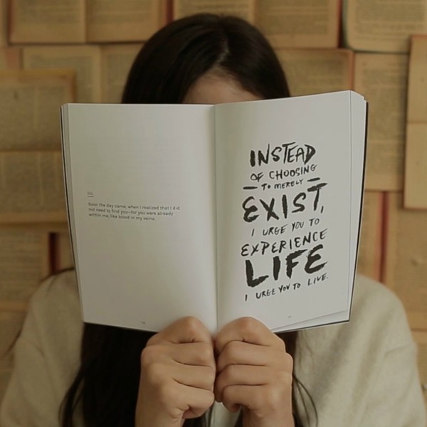 instead of choosing to merely exist i urge you to experience life quote on book | Why is Finding Meaning In Life and Work So Important? https://positiveroutines.com/finding-meaning/