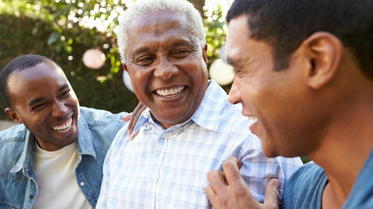 three generations of men smiling | 15 Father's Day Quotes to Make Dad Happy This Year https://positiveroutines.com/fathers-day-quotes/